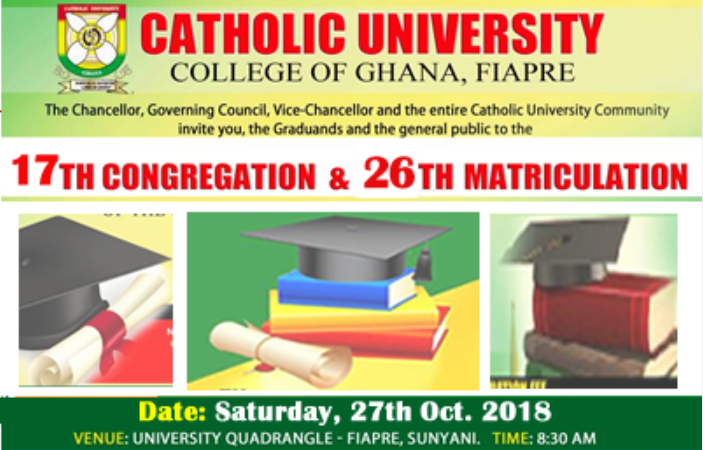 CUCG Congregation and Matriculation Date