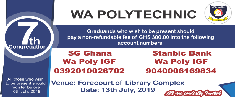 Wa Polytechnic Graduation Ceremony Schedule