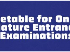 UEW Online Mature Entrance Examinations Timetable