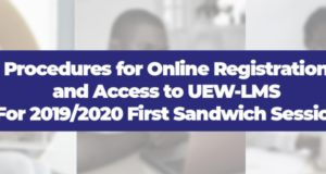 UEW-LMS Online Registration Procedures