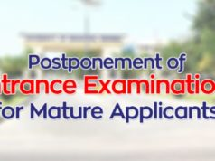 Postponement of Entrance Examinations for Mature Applicants