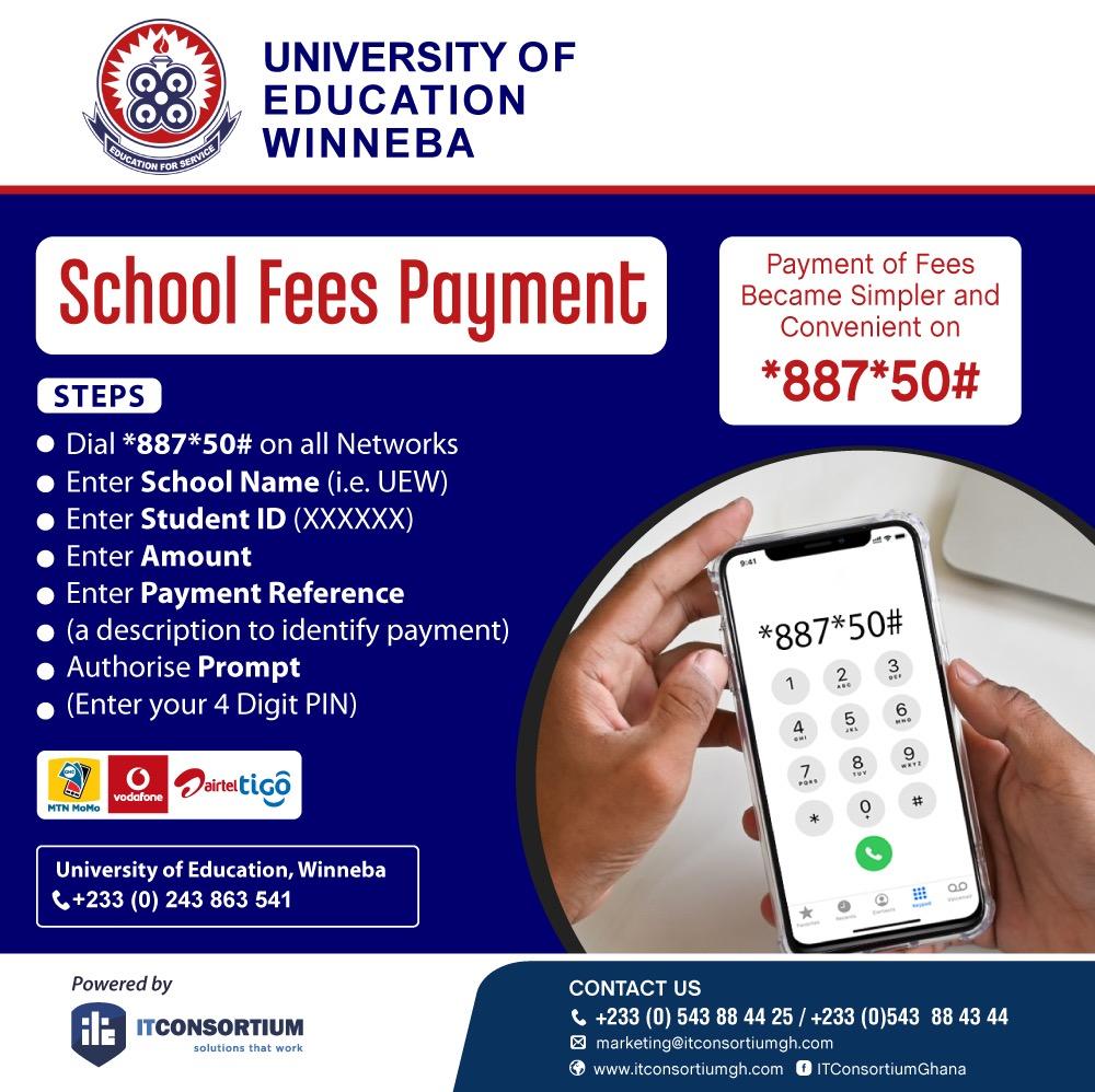 UEW School Fees Via Mobile Money