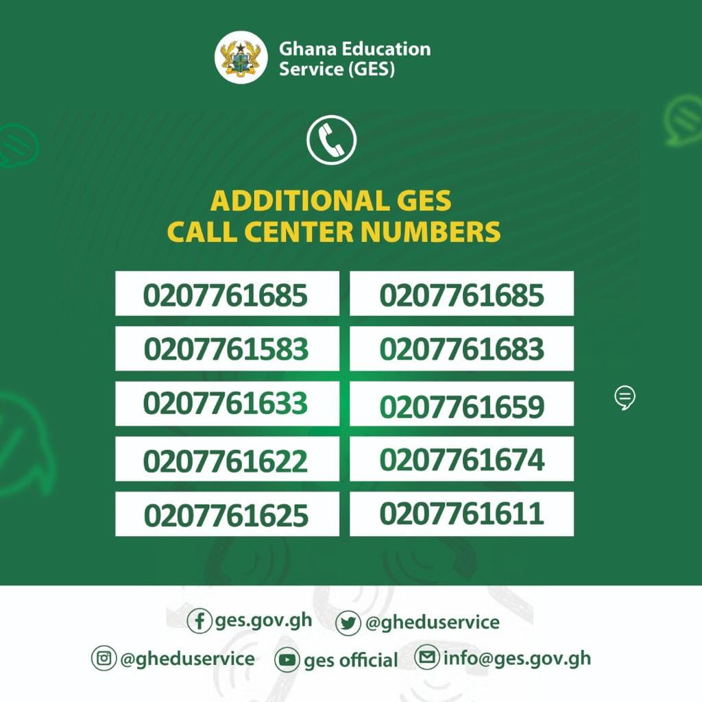 GES Placement Call Center Numbers