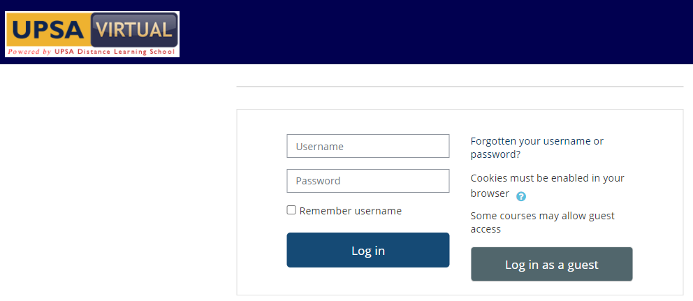 UPSA Virtual Learning Platform