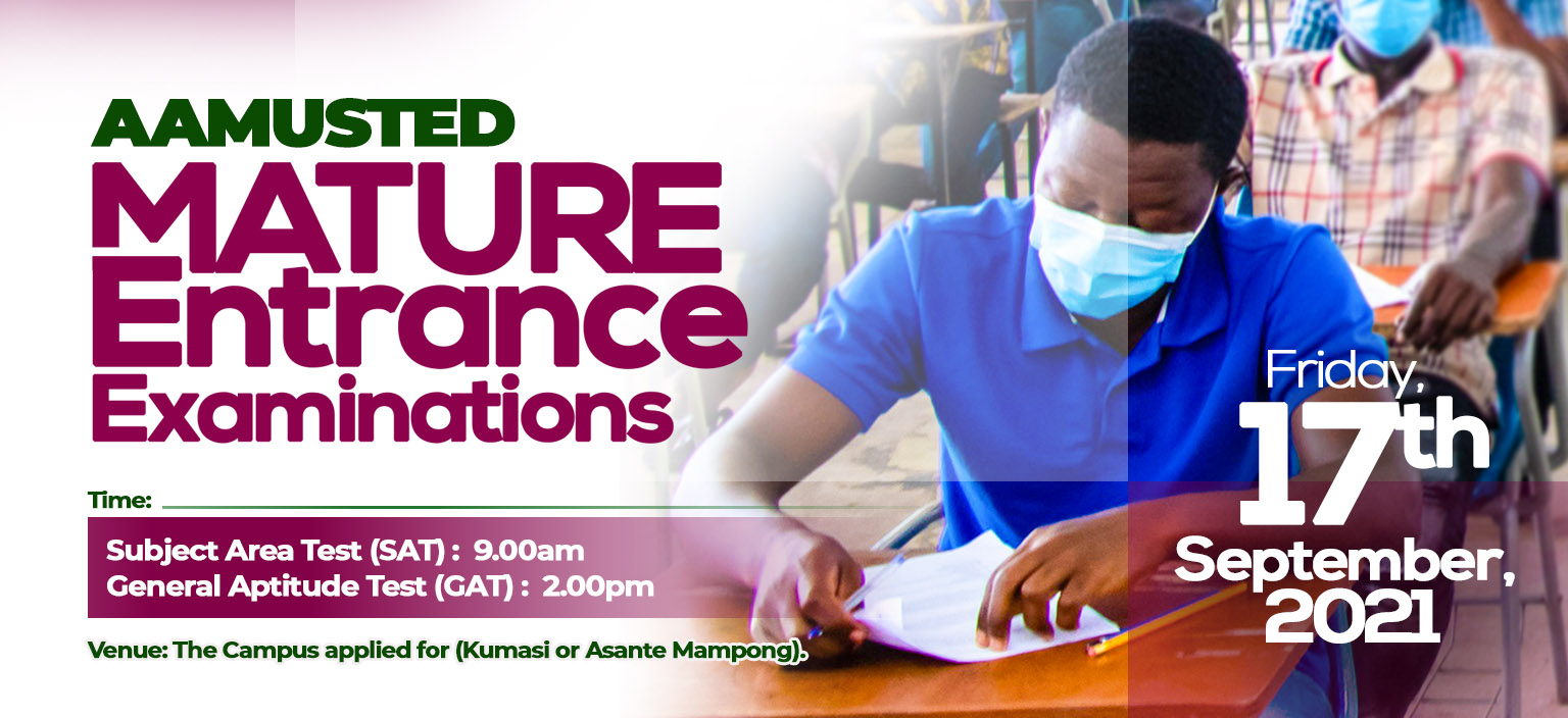 AAMUSTED Mature Entrance Examination Schedule